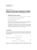 "báo cáo hóa học:""  Research Article Uniqueness and Parameter Dependence of Positive Solution of Fourth-Order Nonhomogeneous BVPs"""