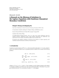 "báo cáo hóa học:""  Research Article A Remark on the Blowup of Solutions to the Laplace Equations with Nonlinear Dynamical Boundary Conditions"""
