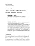 "báo cáo hóa học:"" Research Article Variable Viscosity on Magnetohydrodynamic Fluid Flow and Heat Transfer over an Unsteady Stretching Surface with Hall Effect"""