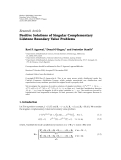 "báo cáo hóa học:"" Research Article Positive Solutions of Singular Complementary Lidstone Boundary Value Problems"""