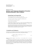 "báo cáo hóa học:""  Research Article Existence and Uniqueness Results for Perturbed Neumann Boundary Value Problems"""