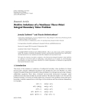 "báo cáo hóa học:"" Research Article Positive Solutions of a Nonlinear Three-Point Integral Boundary Value Problem"""