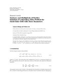 "báo cáo hóa học:""  Research Article Existence and Multiplicity of Positive Solutions of a Boundary-Value Problem for Sixth-Order ODE with Three Parameters"""