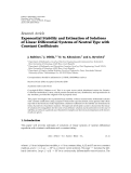 "báo cáo hóa học:"" Research Article Exponential Stability and Estimation of Solutions of Linear Differential Systems of Neutral Type with Constant Coefficients"""