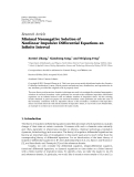 "báo cáo hóa học:""  Research Article Minimal Nonnegative Solution of Nonlinear Impulsive Differential Equations on Infinite Interval"""