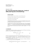 "báo cáo hóa học:"" Research Article On a Perturbed Dirichlet Problem for a Nonlocal Differential Equation of Kirchhoff Type"""