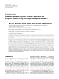 "báo cáo hóa học:""  Research Article Hardware-Enabled Dynamic Resource Allocation for Manycore Systems Using Bidding-Based System Feedback"""
