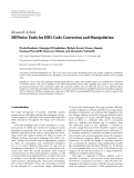 "báo cáo hóa học:"" Research Article HIFSuite: Tools for HDL Code Conversion and Manipulation"""