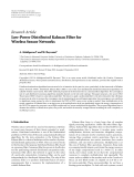 "báo cáo hóa học:""  Research Article Low-Power Distributed Kalman Filter for Wireless Sensor Networks"""