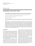 "báo cáo hóa học:"" Research Article An Ontological Framework for Retrieving Environmental Sounds Using Semantics and Acoustic Content"""