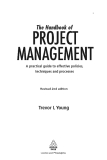 The Handbook of Project Management: A Practical Guide to Effective Policies and Procedures, 2nd Revised Edition_1