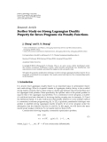 "Báo cáo sinh học: ""  Research Article Further Study on Strong Lagrangian Duality Property for Invex Programs via Penalty Functions"""