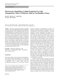 """Báo cáo hóa học: """"  Fluorescence Quenching of Alpha-Fetoprotein by Gold Nanoparticles: Effect of Dielectric Shell on Non-Radiative Decay"""""""
