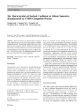 """Báo cáo hóa học: """" The Characteristics of Seebeck Coefficient in Silicon Nanowires Manufactured by CMOS Compatible Process"""""""