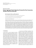 "Báo cáo hóa học: "" Research Article Frame-Aggregated Link Adaptation Protocol for Next Generation Wireless Local Area Networks"""