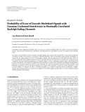 "Báo cáo hóa học: ""Research Article Probability of Error of Linearly Modulated Signals with Gaussian Cochannel Interference in """