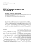 "Báo cáo hóa học: ""Research Article Efficient MAC Protocol for Subcarrier-Wise Rate Adaptation over WLAN"""