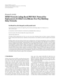 "Báo cáo hóa học: ""Research Article MIMO Network Coding-Based PHY/MAC Protocol for Replacement of CSMA/CA in Efficient Two-Way Multihop Relay Networks"""