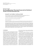 "Báo cáo hóa học: ""Research Article The Waterfilling Game-Theoretical Framework for Distributed Wireless Network Information Flow"""