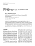 "Báo cáo hóa học: ""Research Article Adaptive Reliable Routing Based on Cluster Hierarchy for Wireless Multimedia Sensor Network"""