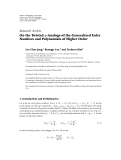 "Báo cáo sinh học: ""Research Article On the Twisted q-Analogs of the Generalized Euler Numbers and Polynomials of Higher Order"""