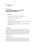 "Báo cáo sinh học: "" Research Article Some Nonlinear Integral Inequalities in Two Independent Variables"""