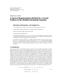 """Báo cáo sinh học: """"  Research Article A Spectral Regularization Method for a Cauchy Problem of the Modified Helmholtz Equation"""""""