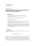 """Báo cáo sinh học: """" Research Article The Jump Problem for Mixed-Type Equations with Defects on the Type Change Line Ahmed Maher1, 2"""""""