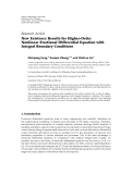 "Báo cáo sinh học: ""  Research Article New Existence Results for Higher-Order Nonlinear Fractional Differential Equation with Integral Boundary Conditions"""