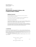 """Báo cáo sinh học: """" Research Article Discontinuous Parabolic Problems with a Nonlocal Initial Condition"""""""