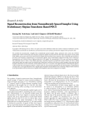 """Báo cáo sinh học: """"  Research Article Signal Reconstruction from Nonuniformly Spaced Samples Using Evolutionary Slepian Transform-Based POCS"""""""