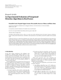 """Báo cáo sinh học: """" Research Article An Experimental Evaluation of Foreground Detection Algorithms in Real Scenes"""""""