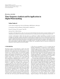 "Báo cáo sinh học: "" Review Article Time-Frequency Analysis and Its Application in Digital Watermarking"""