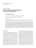 "Báo cáo sinh học: ""   Research Article On Converting Secret Sharing Scheme to Visual Secret Sharing Scheme"""