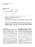 """Báo cáo sinh học: """"   Research Article Vector-Sensor Array Processing for Polarization Parameters and DOA Estimation"""""""