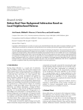 "Báo cáo sinh học: ""  Research Article Robust Real-Time Background Subtraction Based on Local Neighborhood Patterns"""