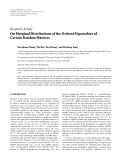 "Báo cáo sinh học: "" Research Article On Marginal Distributions of the Ordered Eigenvalues of Certain Random Matrices"""