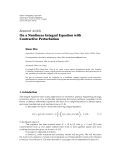 "báo cáo hóa học:"" Research Article On a Nonlinear Integral Equation with Contractive Perturbation"""