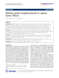 "báo cáo hóa học:"" Refining spatial neighbourhoods to capture terrain effects"""