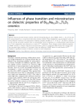 """báo cáo hóa học:""""  Influences of phase transition and microstructure on dielectric properties of Bi0.5Na0.5Zr1-xTixO3 ceramics"""""""