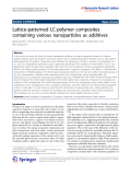 "báo cáo hóa học:""  Lattice-patterned LC-polymer composites containing various nanoparticles as additives"""