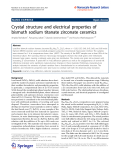 "báo cáo hóa học:"" Crystal structure and electrical properties of bismuth sodium titanate zirconate ceramics"""