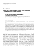 """báo cáo hóa học:""""  Research Article Improving SCTP Performance by Jitter-Based Congestion Control over Wired-Wireless Networks"""""""