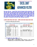 Excel 2007-Advanced Filter