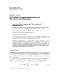 """báo cáo hóa học:""""  Research Article On Multiple Interpolation Functions of the q-Genocchi Polynomials"""""""