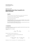"""báo cáo hóa học:""""  Research Article Sharp Becker-Stark-Type Inequalities for Bessel Functions"""""""