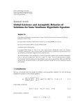 "báo cáo hóa học:""  Research Article Global Existence and Asymptotic Behavior of Solutions for Some Nonlinear Hyperbolic Equation"""