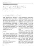 """báo cáo hóa học:""""  Noninjection Synthesis of CdS and Alloyed CdSxSe12x Nanocrystals Without Nucleation Initiators"""""""