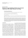 """báo cáo hóa học:""""   Research Article Perimeter Coverage Scheduling in Wireless Sensor Networks Using Sensors with a Single Continuous Cover Range"""""""