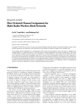 "báo cáo hóa học:""   Research Article Flow Oriented Channel Assignment for Multi-Radio Wireless Mesh Networks"""